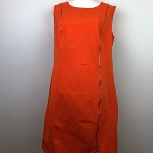Ashley Stewart Orange Asymmetrical Zipper Dress 18
